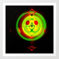 holographic Art Prints featuring Holographic Frisbie by otorography