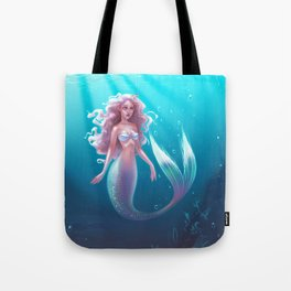 siver mermaid Tote Bag