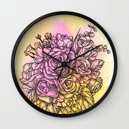 Plant Series: Roses Wall Clock