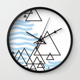 Ocean Mountains Island Wall Clock