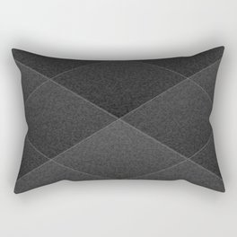 Plush Onyx Black Diamond Rectangular Pillow