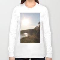 camping Long Sleeve T-shirts featuring Camping by RMK Creative