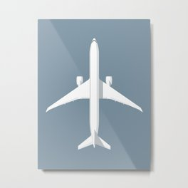777 Passenger Jet Airliner - Slate Metal Print