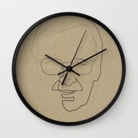 quibe Wall Clocks featuring One Line Stan Lee by quibe