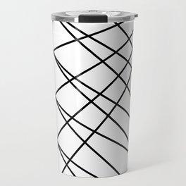 triangles line art Travel Mug