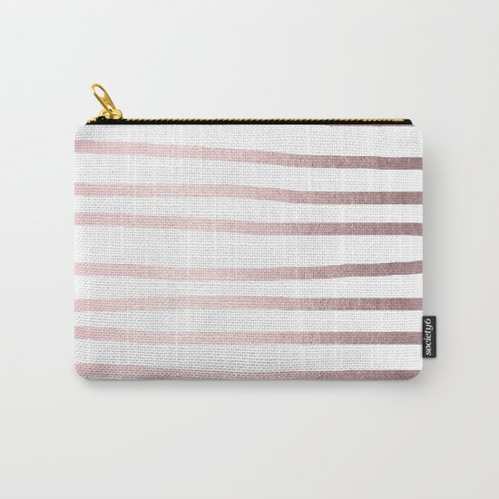 Simply Drawn Stripes Rose Gold Palace Carry-All Pouch