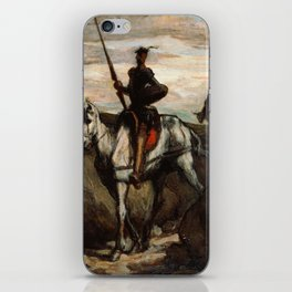 Honore Daumier - Don Quixote in the Mountains iPhone Skin