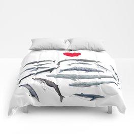 I love whales design Comforters