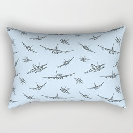 Airplanes on Light Blue Rectangular Pillow
