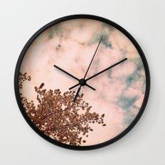Marshmallow sky Wall Clock
