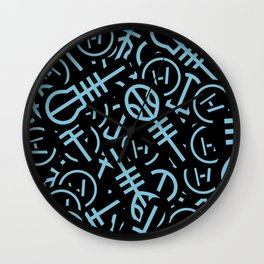 TØP Stickers - Original Logo Blue Wall Clock