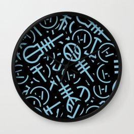 TØP Stickers - Original Logo Blue Wall Clock