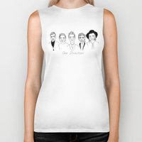 one direction Biker Tanks featuring One Direction by ☿ cactei ☿