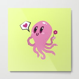 Squid love Metal Print