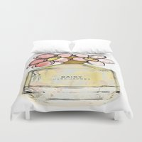 marc Duvet Covers featuring Daisy - Marc Jacob's Perfume Illustrated by Amy frances Illustration