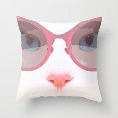 Marilyn Meow Throw Pillow