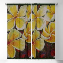 Island Blooms Blackout Curtain