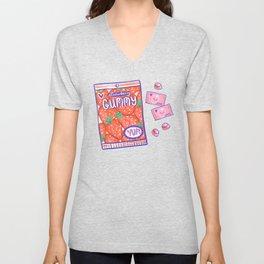 Strawberry Gummy Candy Unisex V-Neck