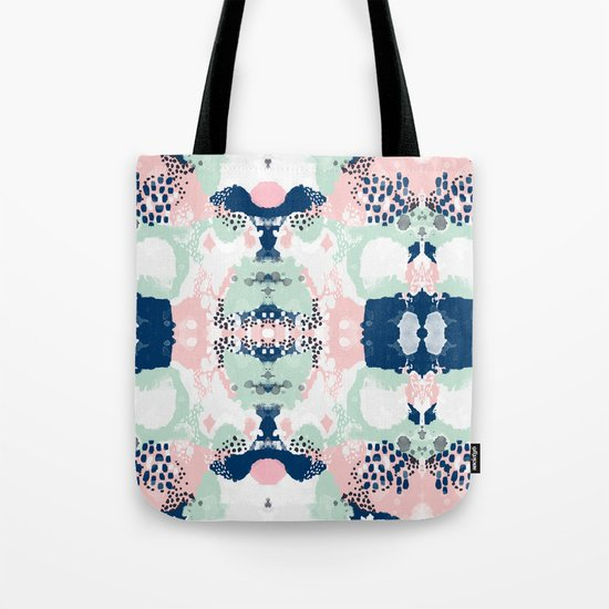 Kimmie - abstract painting modern hipster trendy urban city painterly boho home college dorm decor  Tote Bag