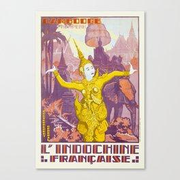 CAMBODIA CAMBODGE PNOM PENH L'INDOCHINE FRANÇAISE. 1931 JOSEPH HENRI PONCHIN Canvas Print