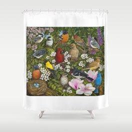 Garden Birds Shower Curtain