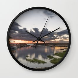 Summer Lanescove sunset Wall Clock