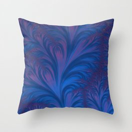 Stacking Hearts - Fractal Art Throw Pillow