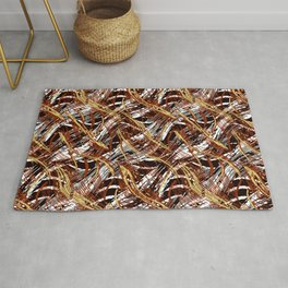 Colorful Wavy Abstract Pattern Rug