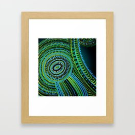 turquoise circus Framed Art Print