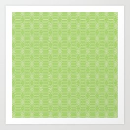 hopscotch-hex bright green Art Print