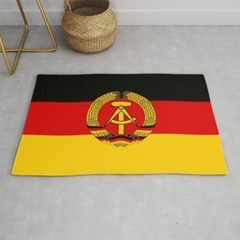 flag of RDA Or east Germany Rug