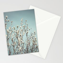 white flowers. Stationery Cards