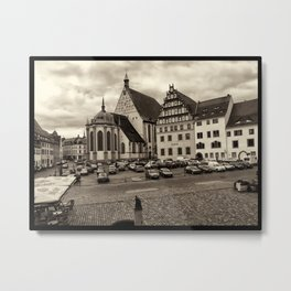 Town Square Freiberg, Germany Metal Print