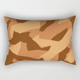 Army Camouflage Pattern Orange Sand Rectangular Pillow