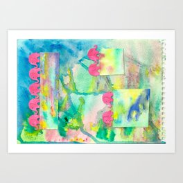 8 Penny the Pink Elephant Art Print