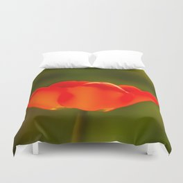 La tulipe orange Duvet Cover