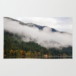 Fog in Olympic National Park Rug
