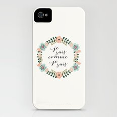 Je suis comme je suis iPhone (4, 4s) Slim Case