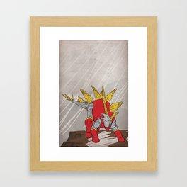 Stegolossus - Superhero Dinosaurs Series Framed Art Print