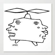 Helicopter Head Canvas Print