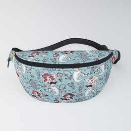 Molly Mermaid vintage pinup inspired nautical tattoo Fanny Pack