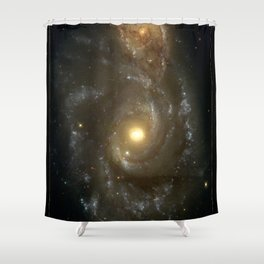 NASA Hubble Space Telescope Poster - NGC 2207 and IC 2163 Shower Curtain