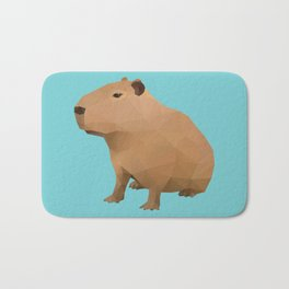 Capybara Polygon Art Bath Mat
