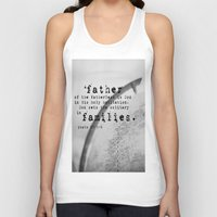 scripture Tank Tops featuring Adoption Scripture Art Psalm 68:5-6 by KimberosePhotography