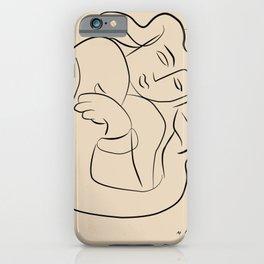 Matisse sleeping lady beige line art, minimalist art print  iPhone Case