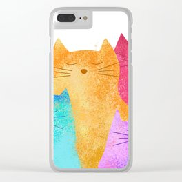 Rainbow cats Clear iPhone Case