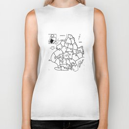 Brooklyn Vintage Map 1957  Biker Tank