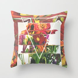 Fake Flowers Throw Pillow