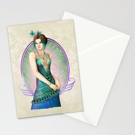 Peacock Gown Stationery Cards