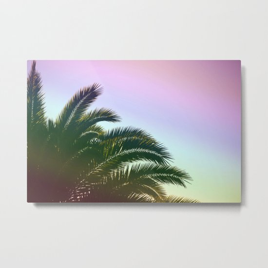 Palm Leaves  - Tropical Sky - Chilling Time Metal Print